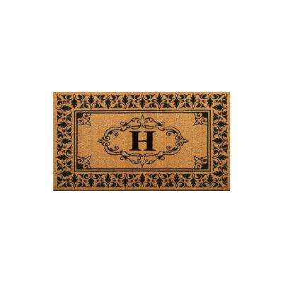 Welcome 36 in. x 72 in. Indoor/Outdoor Monogrammed Letter H Door Mat