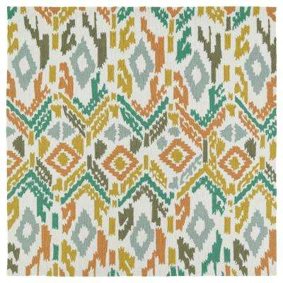 Square - Multi-Colored - Outdoor Rugs - Rugs - The Home Depot