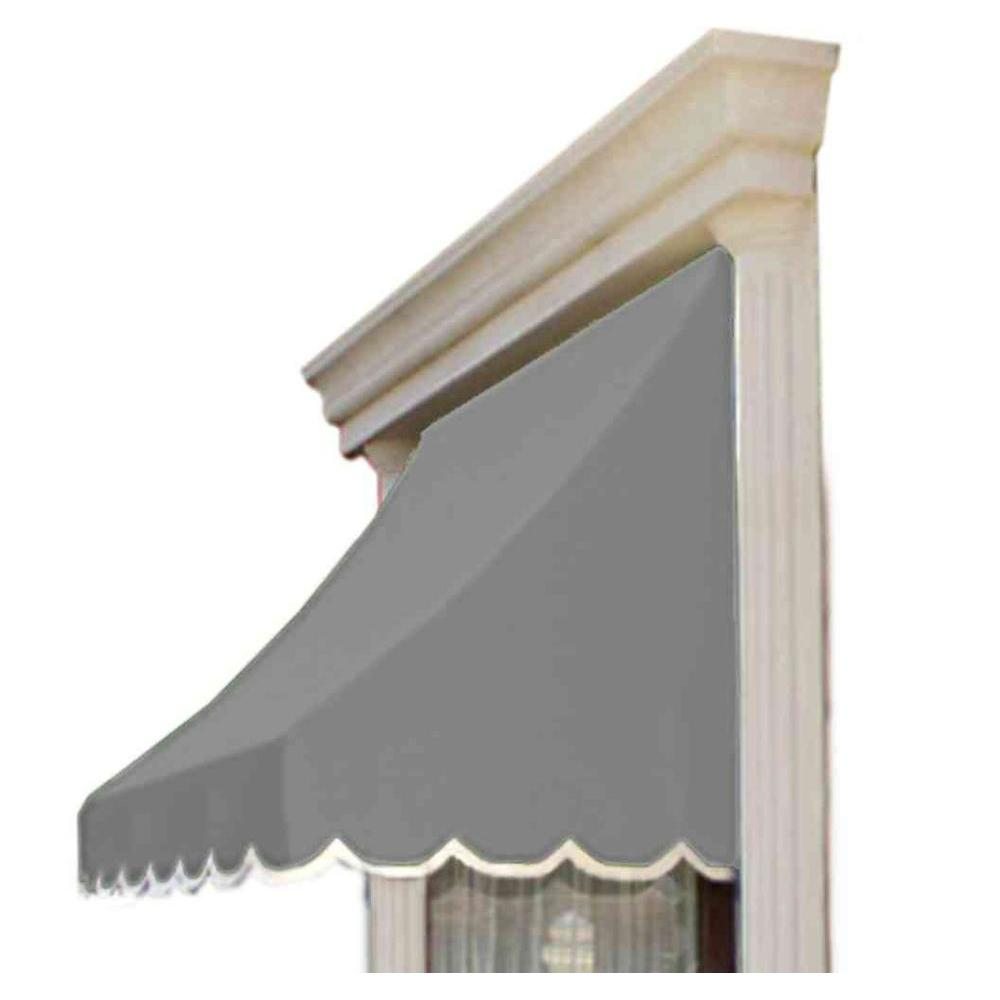 AWNTECH 10.38 ft. Wide Nantucket Window/Entry Awning (44 in. H x 36 in. D) in Gray