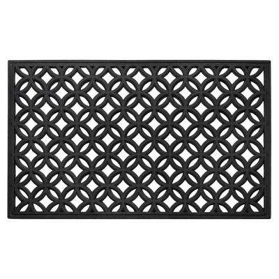 Diamond 18 in. x 30 in. Wrought Iron Rubber Door Mat