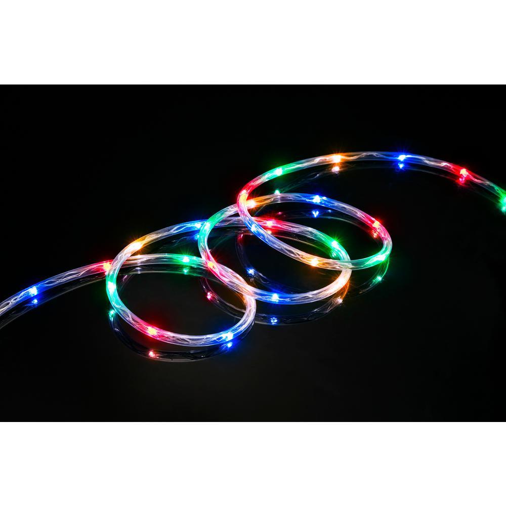 80-Light 16 ft. LED Multi-Color Mini Rope Light TRUE-Tech 360-Degree Directional Shine