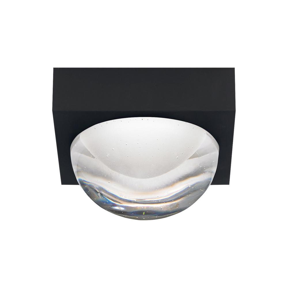 Sphere 1-Light Rubberized Black LED Flushmount