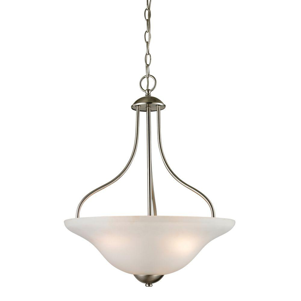 Conway 3-Light Brushed Nickel Large Ceiling Pendant