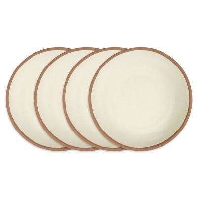Potter 4-Piece 10 in. Terracotta Brown Melamine Bamboo Dinner Plate Set