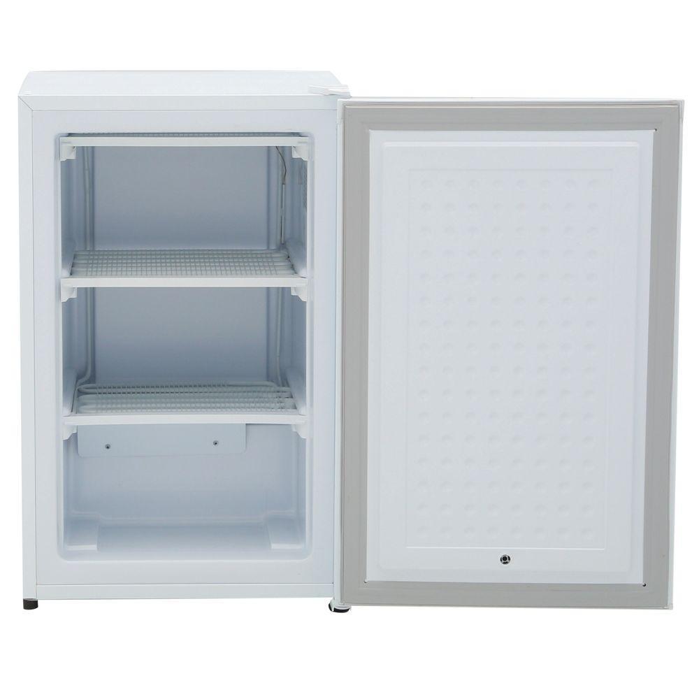 3.2 cu. ft. Manual Defrost Upright Freezer in White