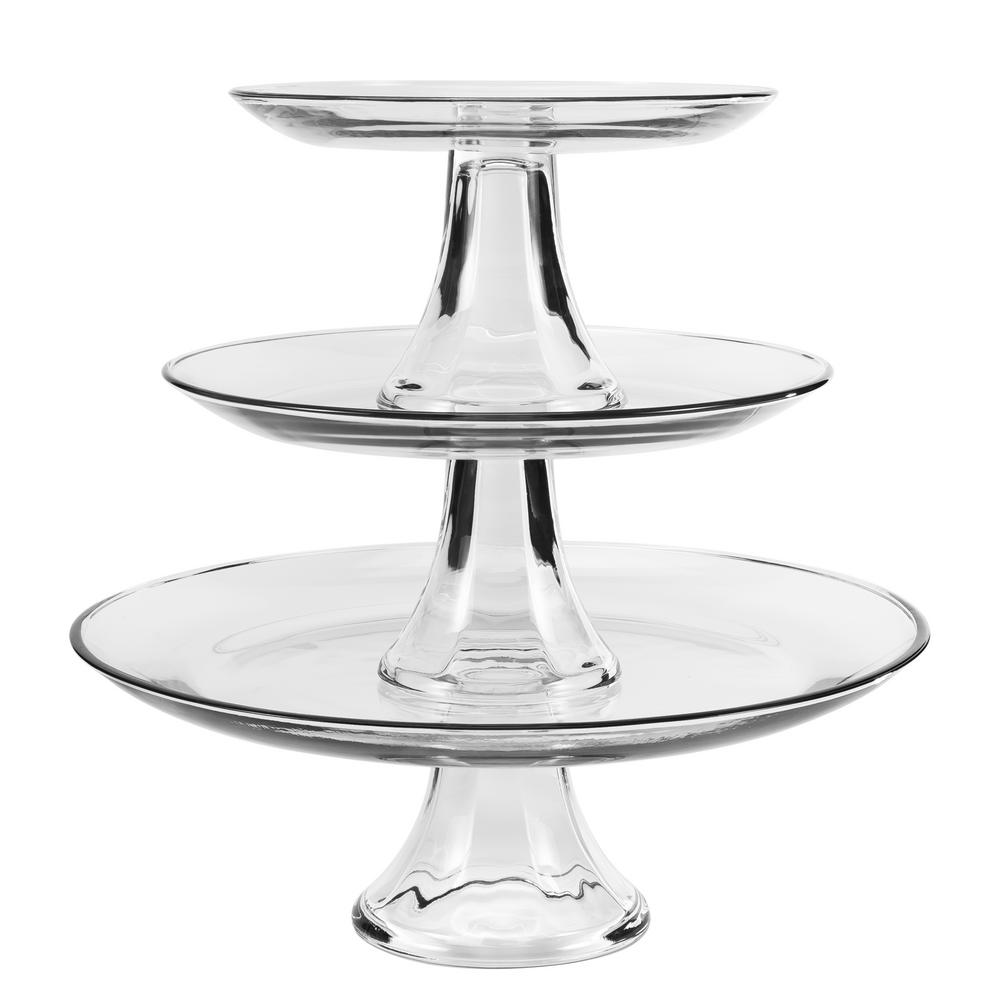Anchor Hocking 3-Tier Platter Set