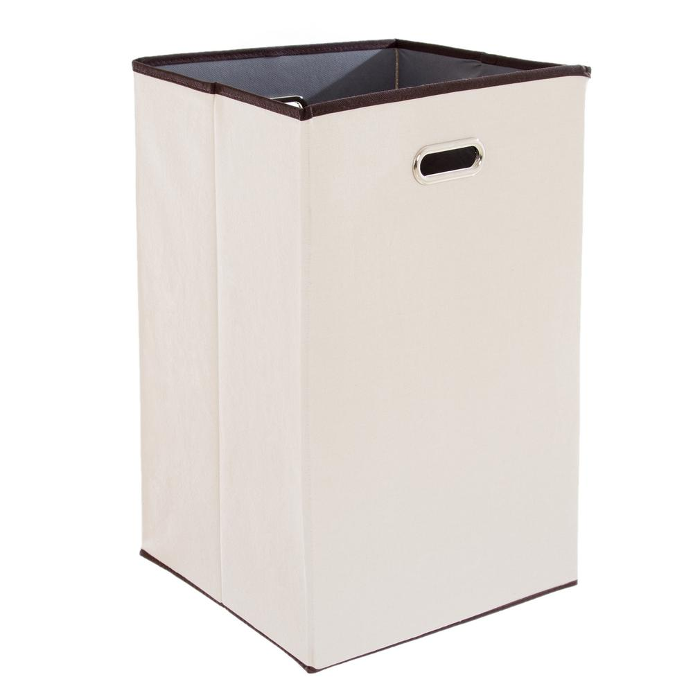 Lavish home 23 in collapsible canvas laundry hamper m050013 the home depot - Collapsible clothes hamper ...