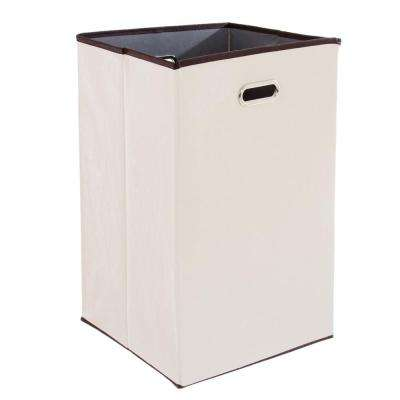 23 in. Collapsible Canvas Laundry Hamper