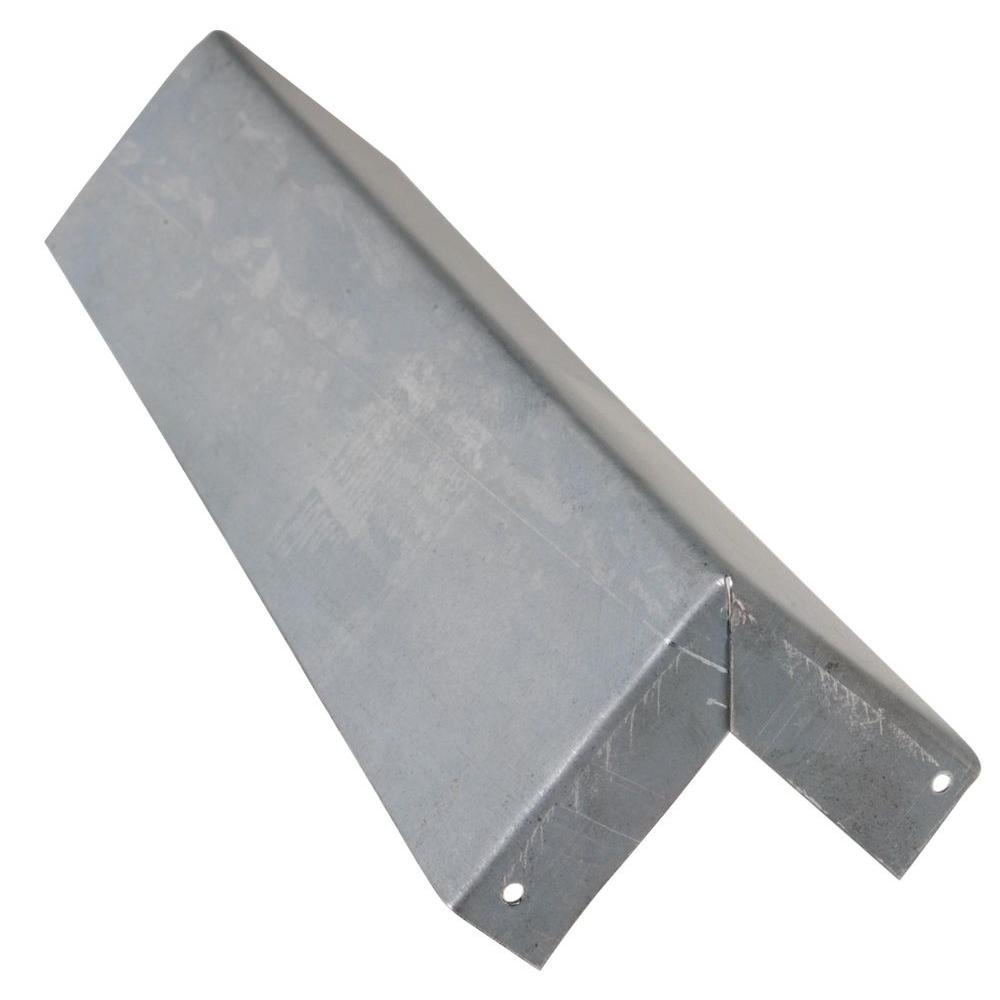 Construction Metals 1/2 in. x 1/2 in. x 8 in. Bonderized Steel Siding Corner Trim