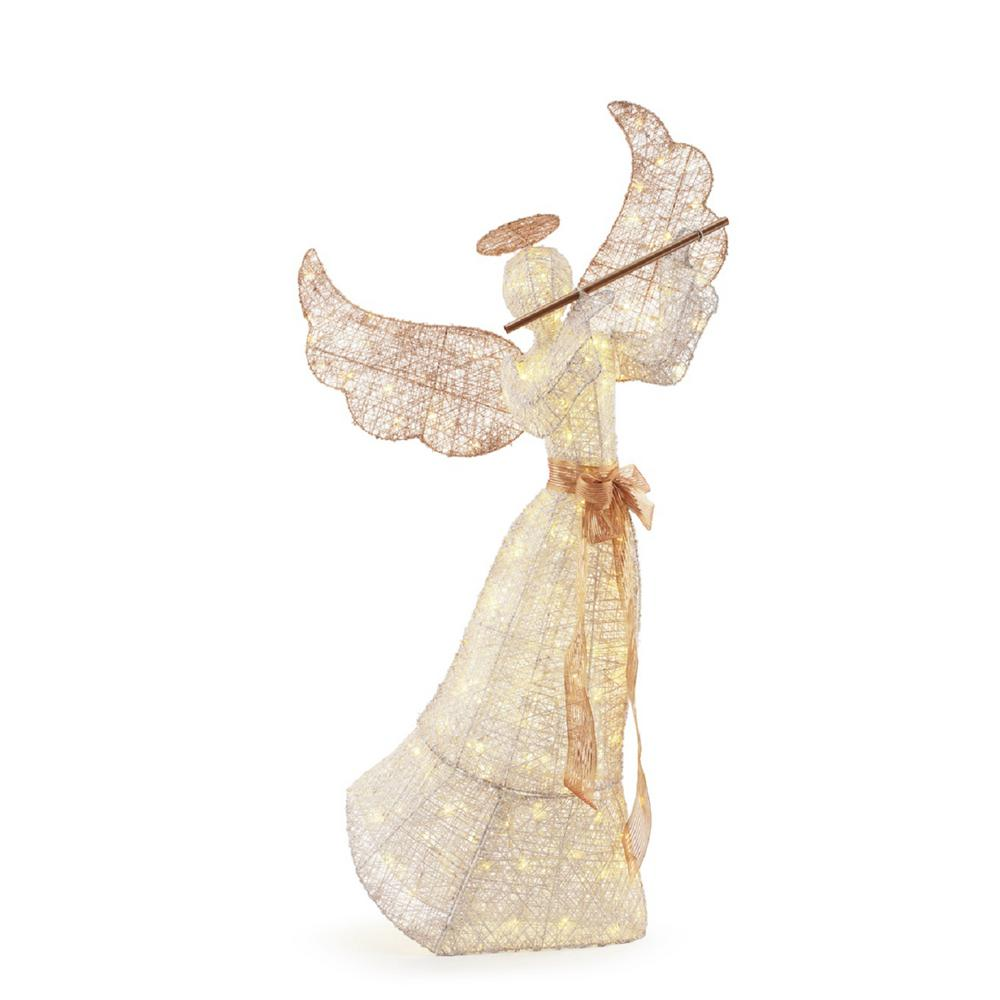 6 ft tall LED Lighted Angel with Flute - Outdoor Christmas ...