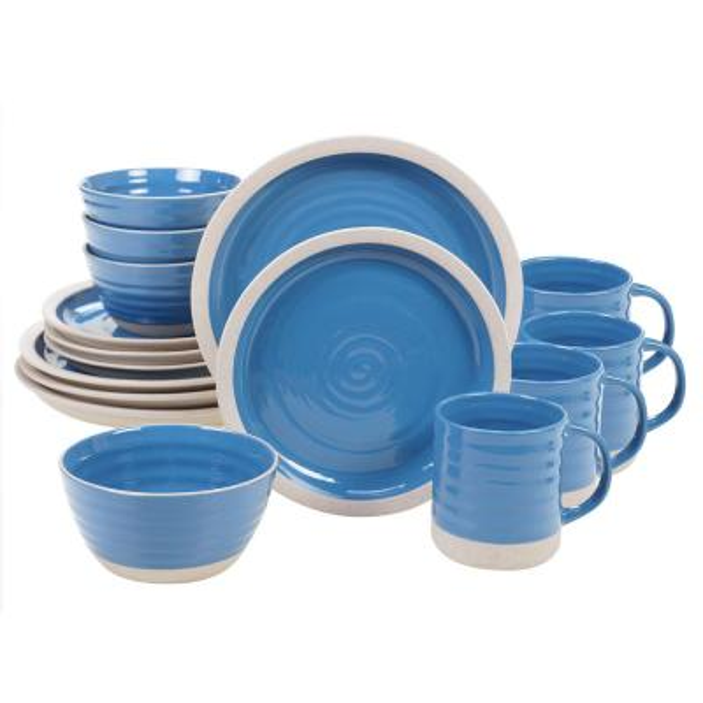 Artisan Blue 16-Piece Blue Dinnerware Set