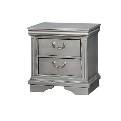 Claudia Silver Traditional Style Nightstand