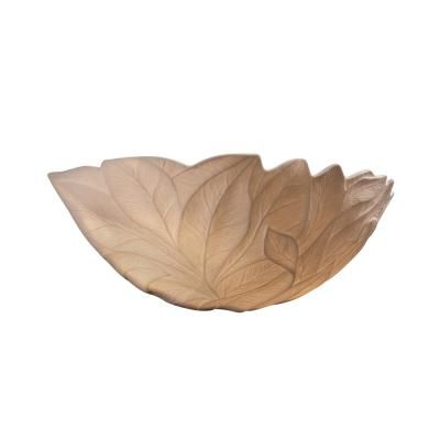 Limoges 1-Light Off-White Wall Sconce with Fossil Leaf Shade