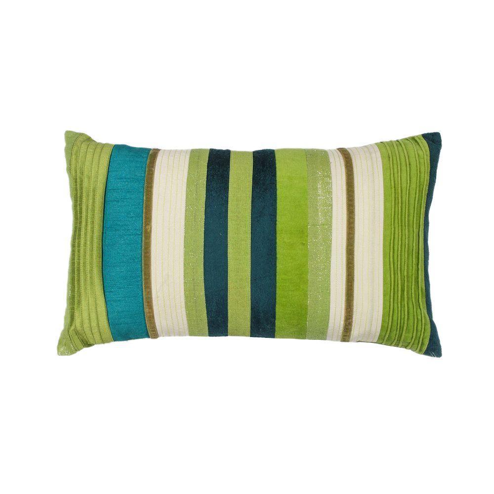 Kas Rugs Mod Stripe Teal Green Decorative Pillow Pill16912x20 The