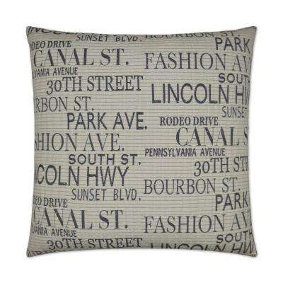 Streets Feather Down 24 in. x 24 in. Standard Decorative Throw Pillow