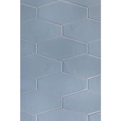 Birmingham Hexagon Dew 4 in. x 8 in. 8mm Polished Ceramic Subway Tile (5.38 sq. ft. / box)
