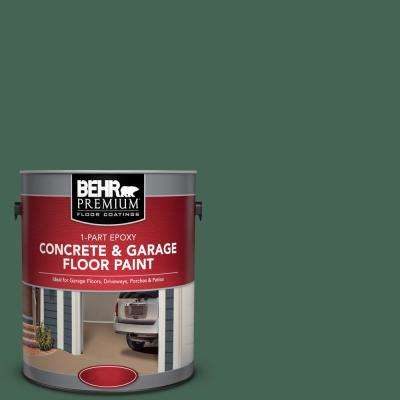 1 gal. #PFC-40 Green 1-Part Epoxy Satin Interior/Exterior Concrete and Garage Floor Paint