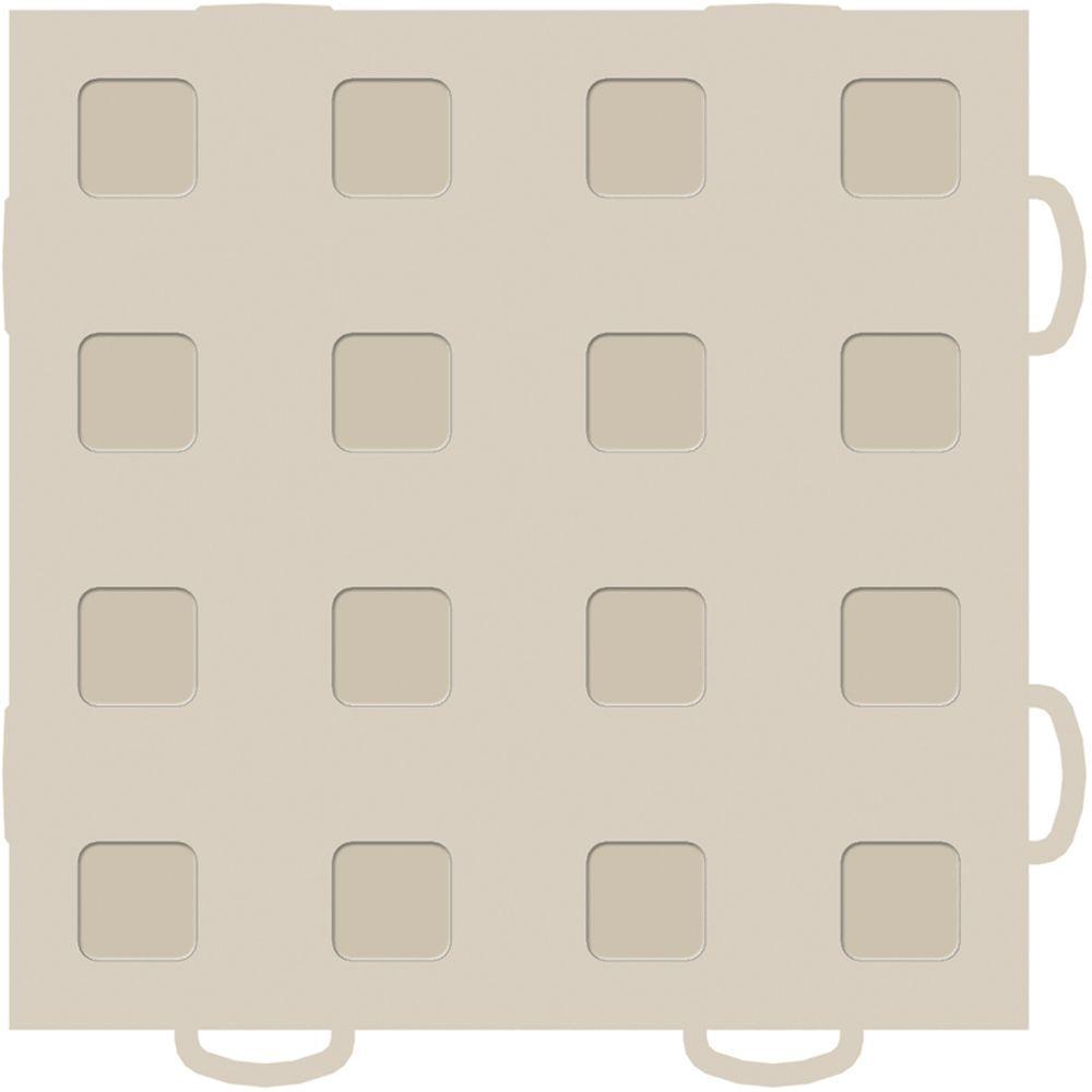 WeatherTech TechFloor 6 in. x 6 in. Tan/Tan Vinyl Flooring Tiles (Quantity of 10)