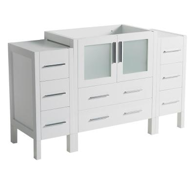 Torino 54 in. Modern Bathroom Vanity Cabinet Only in White