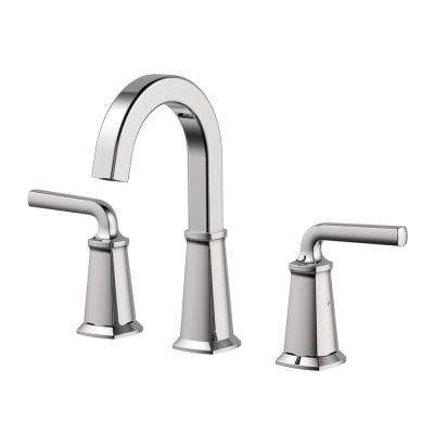 Chesapeake 8 in. Widespread 2-Handle High-Arc Bathroom Faucet with Pop-Up Drain Assembly in Polished Chrome
