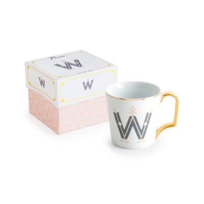 Love Letters 16 oz. White and Gold Coffee Mug W