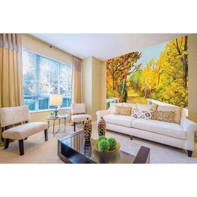 118 in. x 98 in. Shades of Autumn Wall Mural
