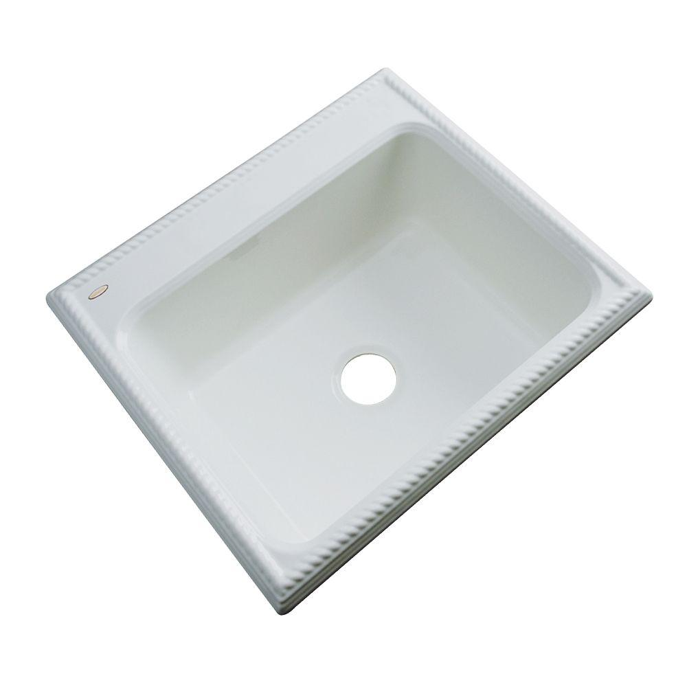 Thermocast Wentworth Drop-In Acrylic 25 in. Single Bowl Kitchen Sink in Sterling Silver