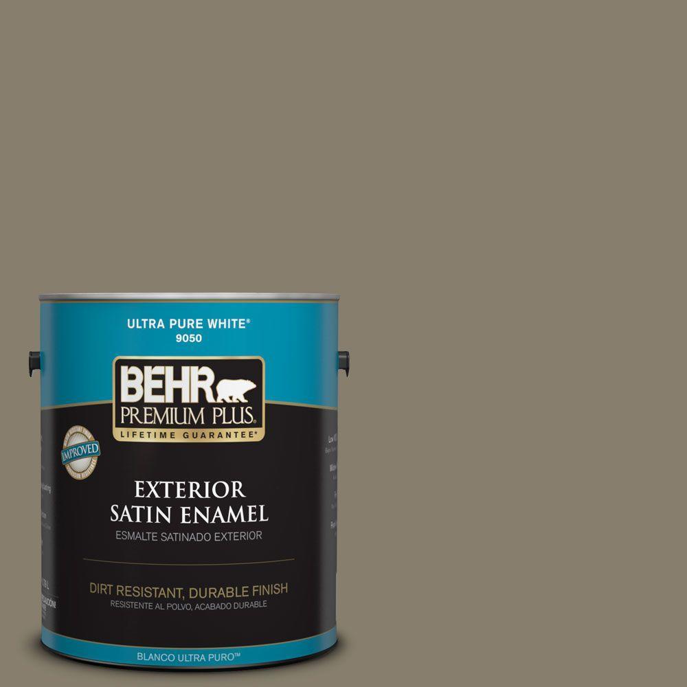 BEHR Premium Plus 1-gal. #ECC-14-2 Great Frontier Satin Enamel Exterior Paint