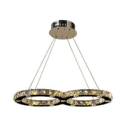Galaxy Collection 22-Light Polished Chrome Crystal LED Chandelier