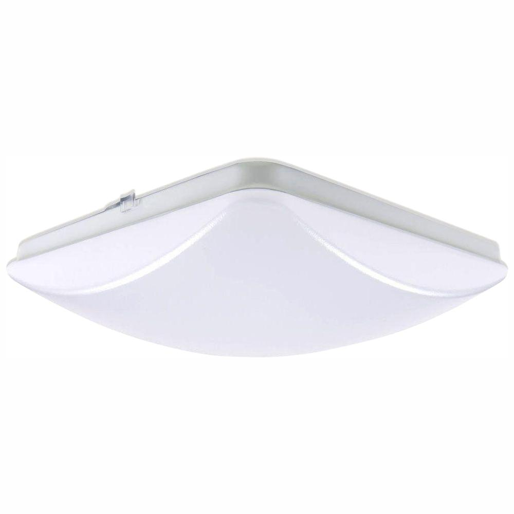 EnviroLite 11 in. 100-Watt Equivalence White Integrated LED Square Ceiling Flush Mount