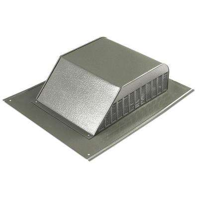 60 in. NFA Aluminum Slant Back Roof Louver Static Vent in Weathered Wood