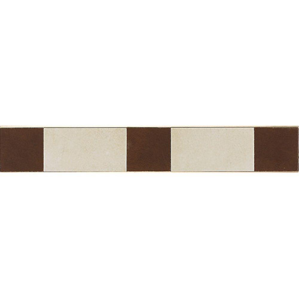 Daltile Veranda Multicolor 3-1/4 in. x 20 in. Deco F Porcelain Border Floor and Wall Tile