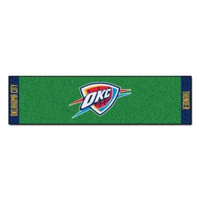 NBA Oklahoma City Thunder 1 ft. 6 in. x 6 ft. Indoor 1-Hole Golf Practice Putting Green
