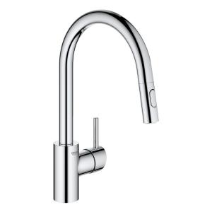Concetto High Spout Single-Handle Dual Spray Pull-Out Sprayer Kitchen Faucet 1.75 GPM in StarLight Chrome