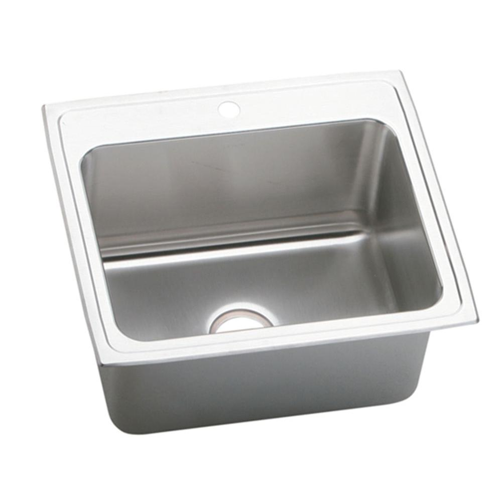 Elkay Lustertone Drop In Stainless Steel 25 In. 1 Hole Single Bowl Kitchen  Sink DLR2522121   The Home Depot