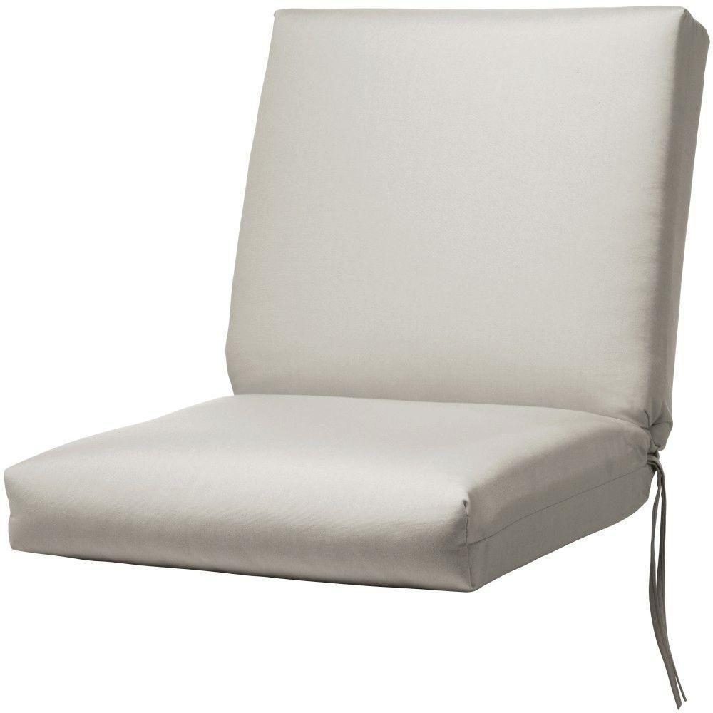 Sunbrella Spectrum Dove Outdoor Dining Chair Cushion