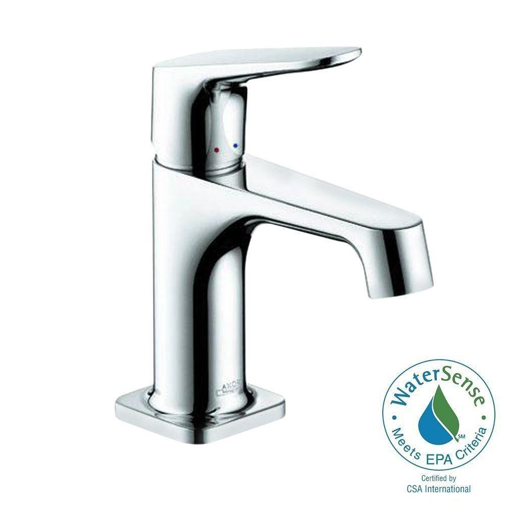 hansgrohe in p white chrome sink single faucet faucets puravida hole bathroom handle