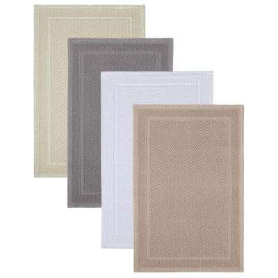 Captiva Chalk 21 in. x 34 in. Bath Rug