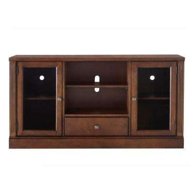 Edinburgh Espresso Glass Door Modular TV Stand