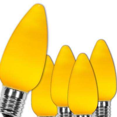C9 LED Gold Smooth/Opaque Christmas Light Bulbs (25-Pack)