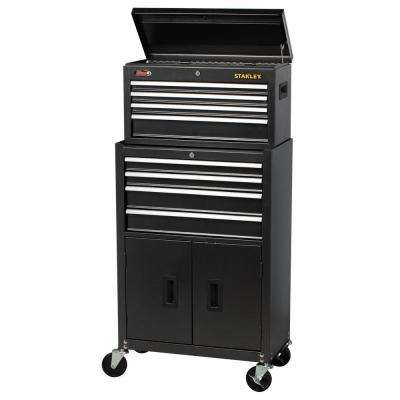 24 in. W 8-Drawer Tool Chest and Cabinet Combo, Dark Gray