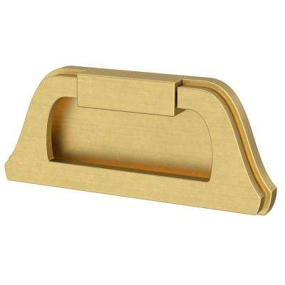 Classic Bell 3 in. (76mm) Center-to-Center Brushed Brass Campaign Drawer Pull