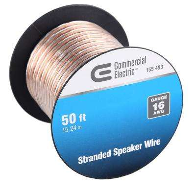 Speaker wire wire the home depot 50 ft 16 gauge stranded speaker wire commercial electric greentooth Images