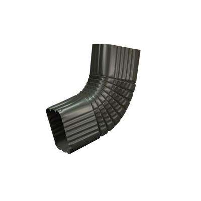 3 in. x 4 in. Tux Gray Aluminum Downspout B Elbow