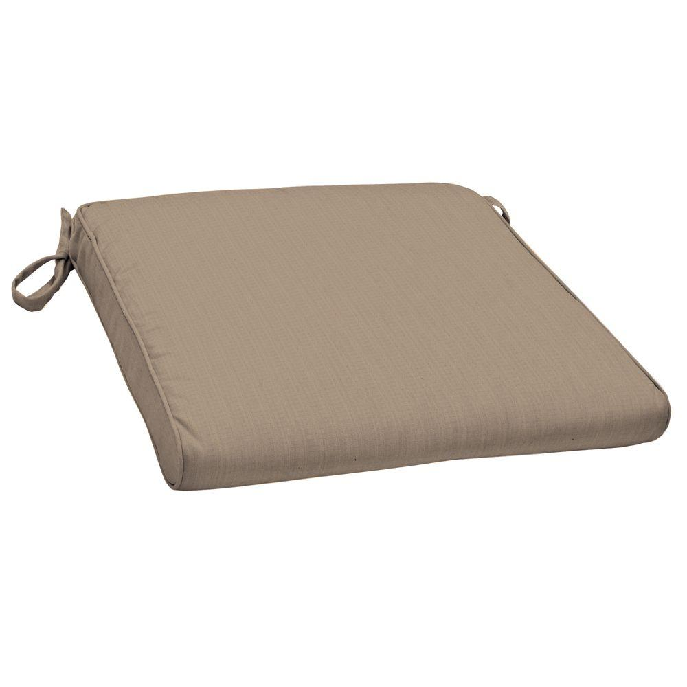Arden Morgan Modern Canvas Heather Beige Outdoor Dining Chair Cushion-DISCONTINUED