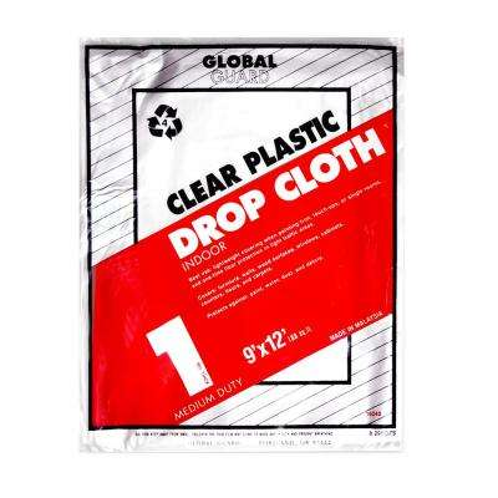 9 ft. x 12 ft. 1 mil Plastic Drop Cloth (24-Pack)