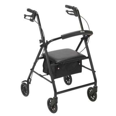 Rollator with 6 in. Wheels in Black
