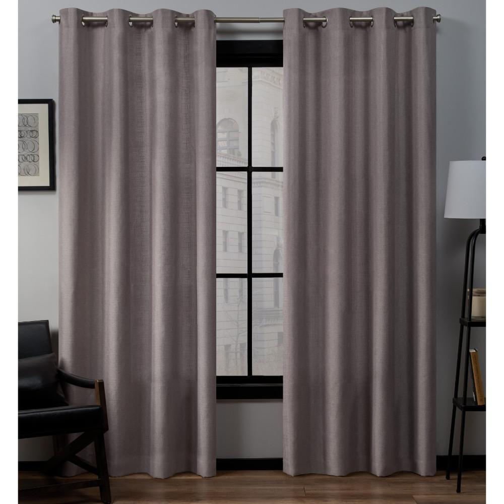 Loha 54 in. W x 84 in. L Linen Blend Grommet Top Curtain Panel in Dusty Lavender (2 Panels)