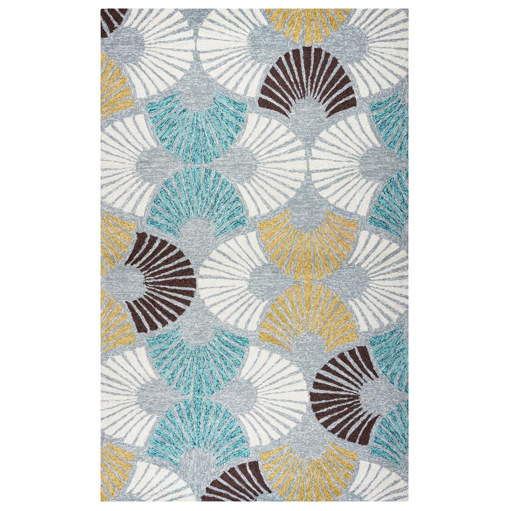 Rizzy Home Azzura Hill Gray Geometric 5 ft. x 7 ft. 6 in. Indoor ...