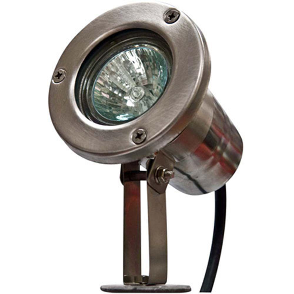 Skive 1-Light Stainless Steel Outdoor Directional Spot Light